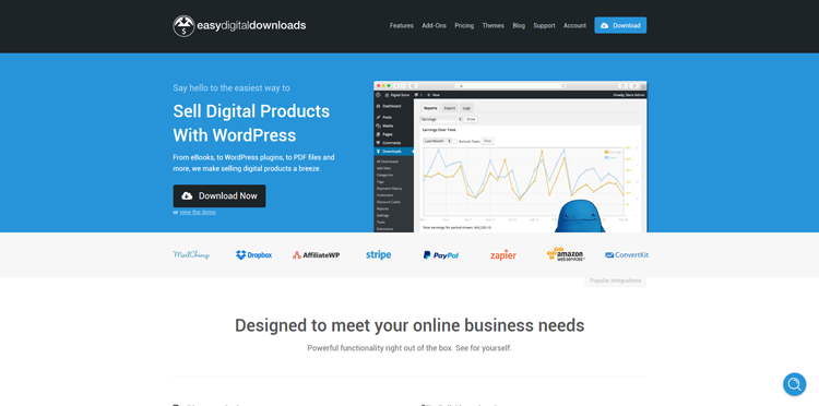 easy digital downloads ecommerce wordpress plugin