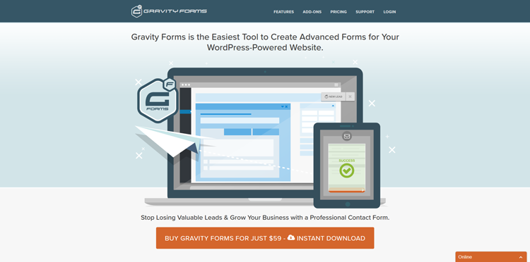 gravity forms wordpress ecommerce plugin