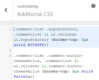 highlight admin and author comments in wordpress via CSS