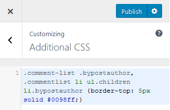 highlight author comments in wordpress via css