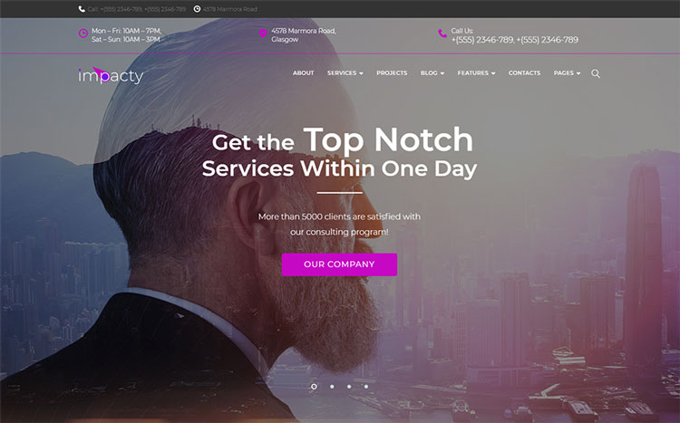 impacty elementor business wordpress theme