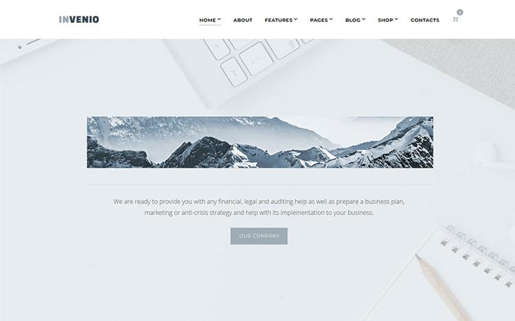 invenio elementor business wordpress theme