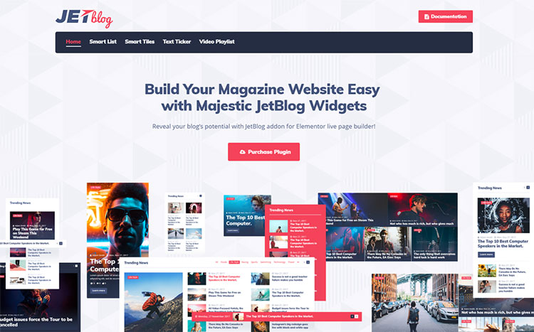 jetblog wordpress elementor add-on