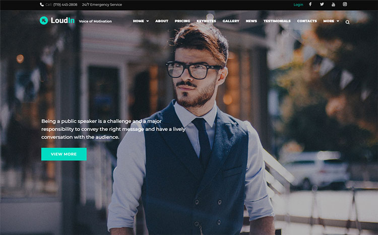 loudin elementor business wordpress theme