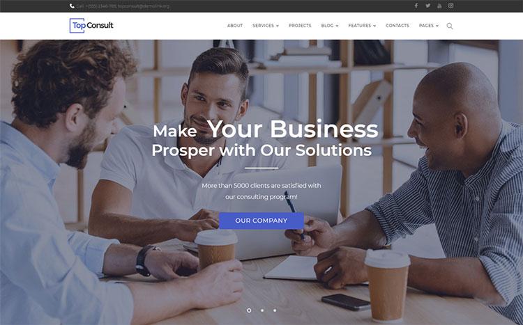 topconsult elementor business wordpress theme