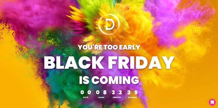 divi black friday and cyber monday wordpress deal