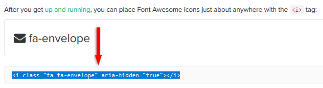 font awesome 4.7 icon envelope
