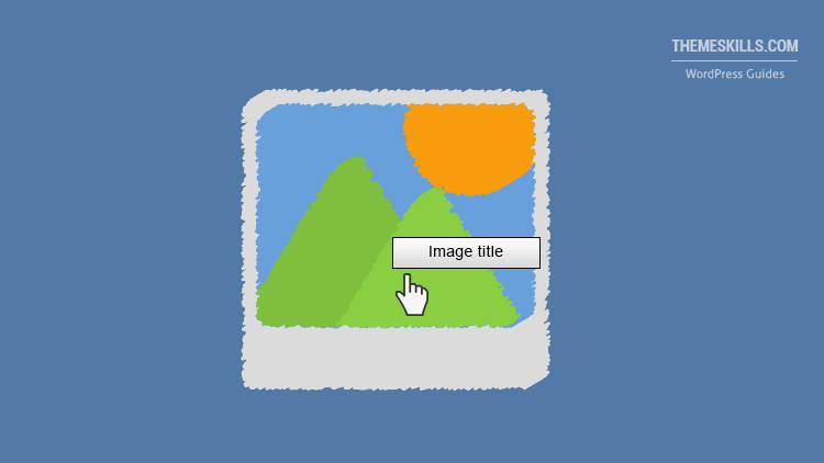 image title on hover