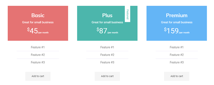 jetguten pricing table
