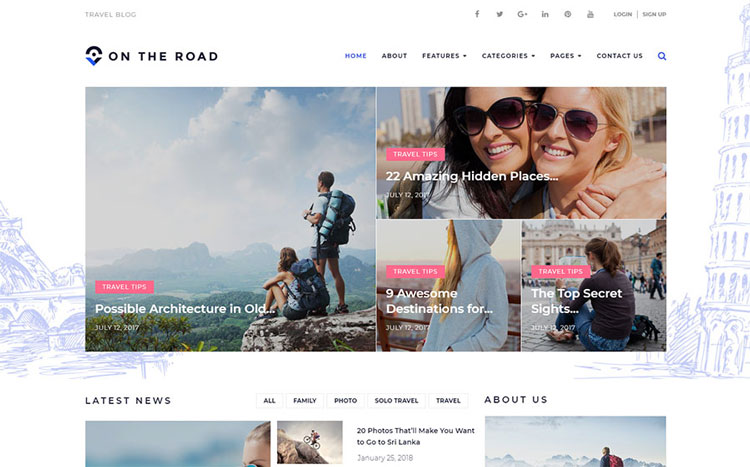 on the road wordpress travel theme