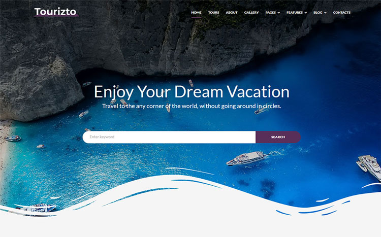 tourizto wordpress travel theme