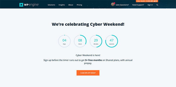 wp engine black friday and cyber monday wordpress deal