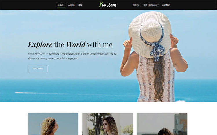 xpression wordpress travel theme