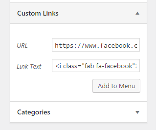 facebook icon menu font awesome generatepress