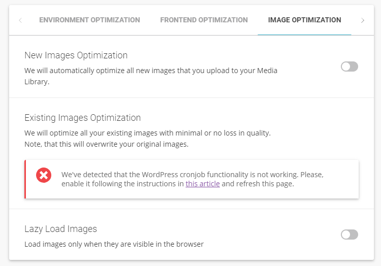 image optimization sg optimizer