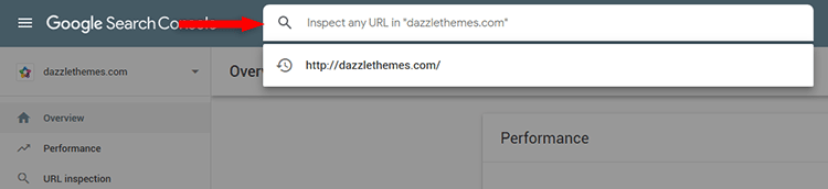 url inspection search console
