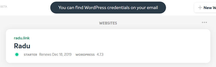 wordpress website created namecheap easywp