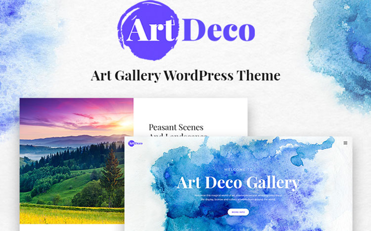 art deco wordpress theme