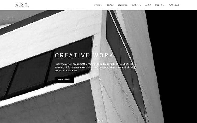 art wordpress theme