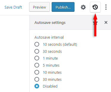 disable gutenberg autosave