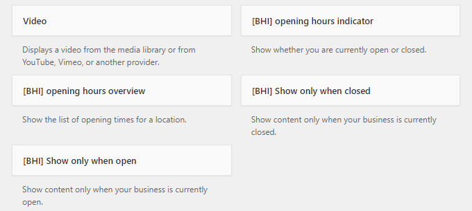 business hours indicator plugin widgets