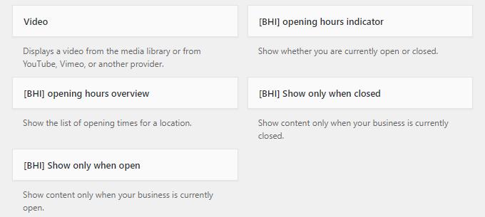 business hours indicator plugin widgets