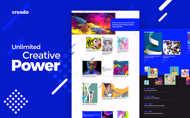 creado art wordpress theme