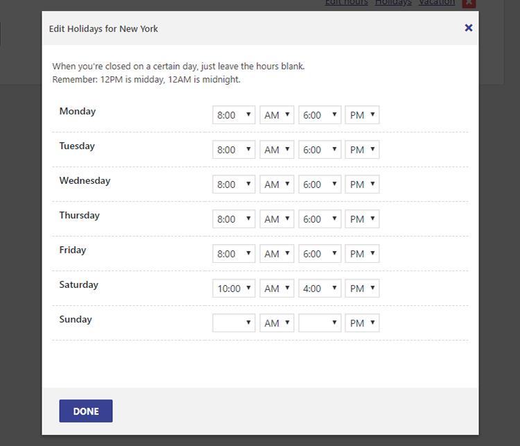 edit hours business hours indicator plugin