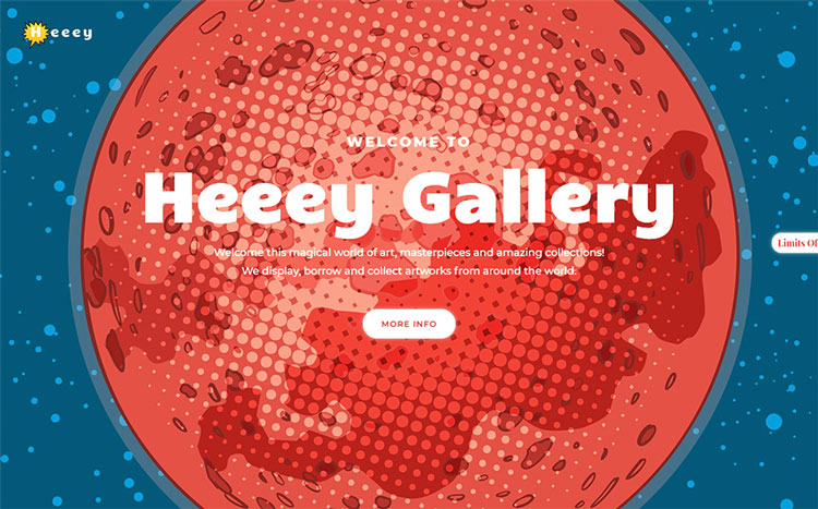 heeey art wordpress theme