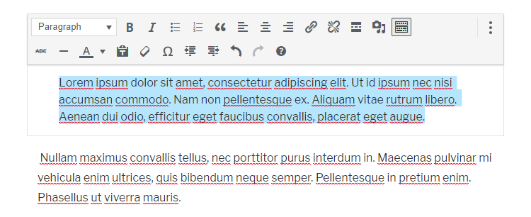 indented paragraph in wordpress gutenberg