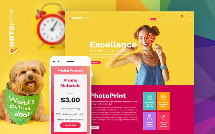 photo print wordpress theme
