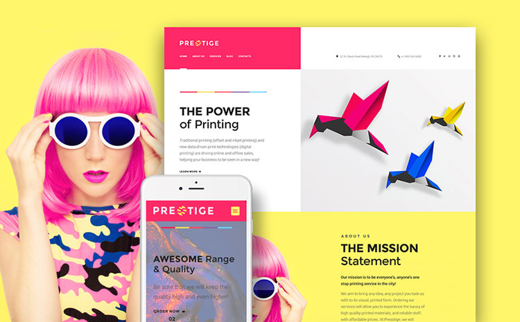 prestige art wordpress theme