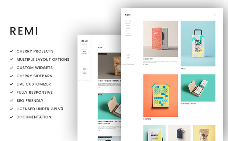 remi wordpress art theme
