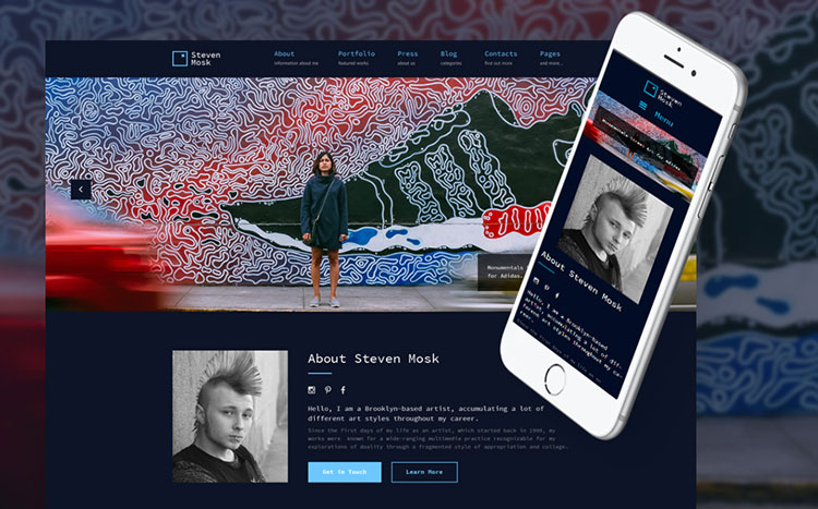 steven mosk art wordpress theme