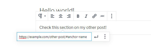 creating anchor link to another post in wordpress
