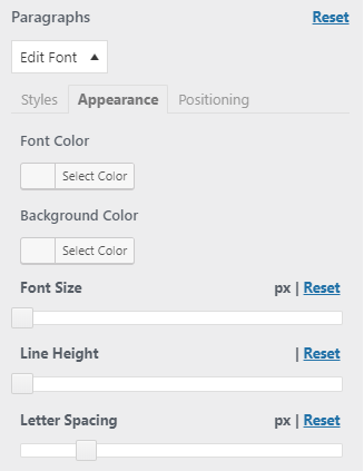 easy google fonts plugin appearance