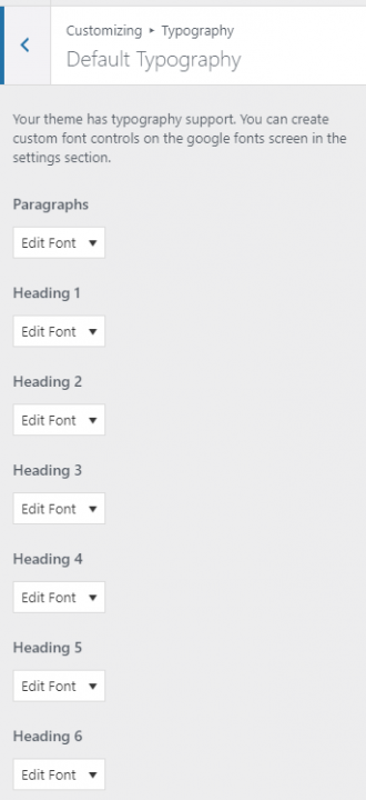 easy google fonts plugin settings