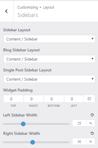 generatepress sidebar options