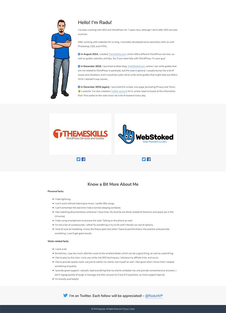 radu.link website