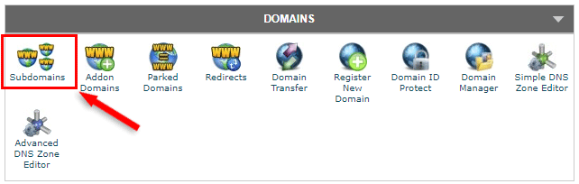 siteground cpanel subdomains