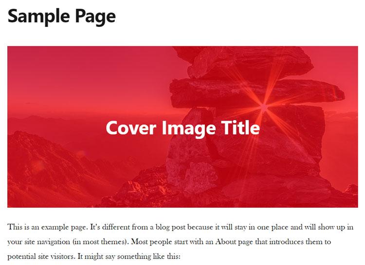 cover image wordpress