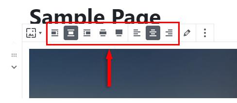 cover block toolbar
