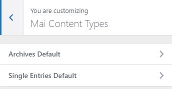 mai lifestyle pro theme content types