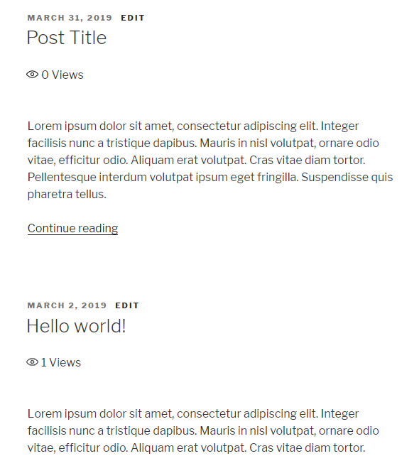 post views in wordpress