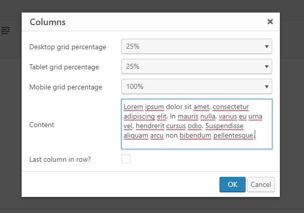 column grid 25%
