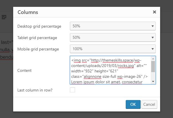 column grid 50%