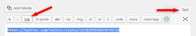 hyperlink in classic editor