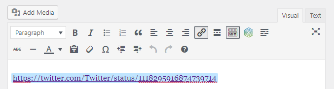 link visual editor