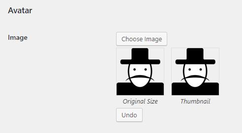 upload custom user avatar