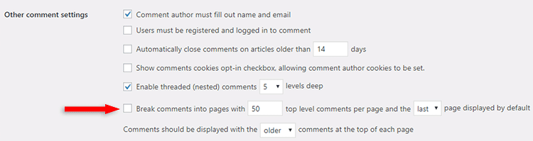 add pagination to comments in wordpress